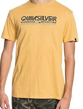 Quiksilver T-Shirt Stone like Gold in gelb