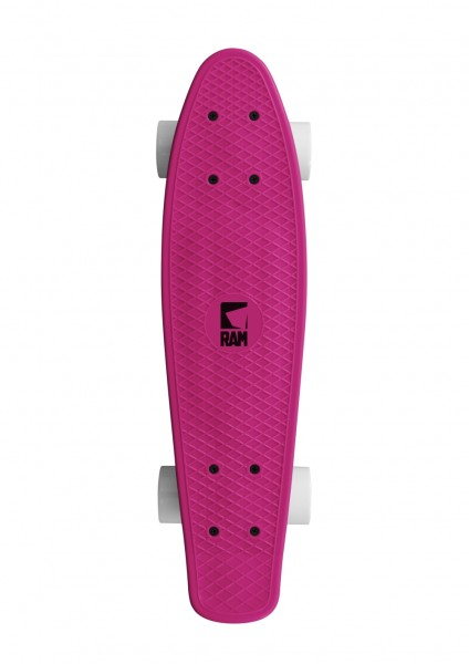RAM Pennyboard Old School Mini Cruiser Dragonfruit Pink 22""